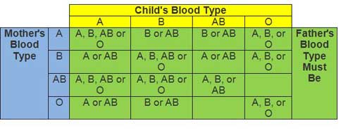 abo blood test to determine paternity Blood vs cheek swab dna testing  paternity testing using methods such as abo blood typing, serology and hla testing  on child to determine paternity took .
